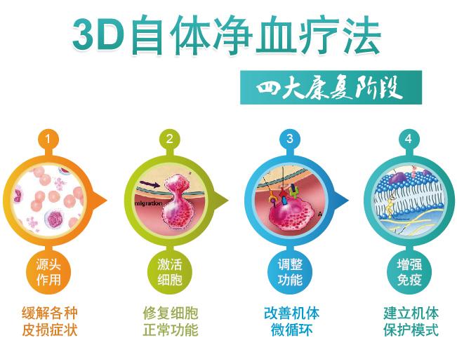 3D自体净血疗法四大康复阶段
